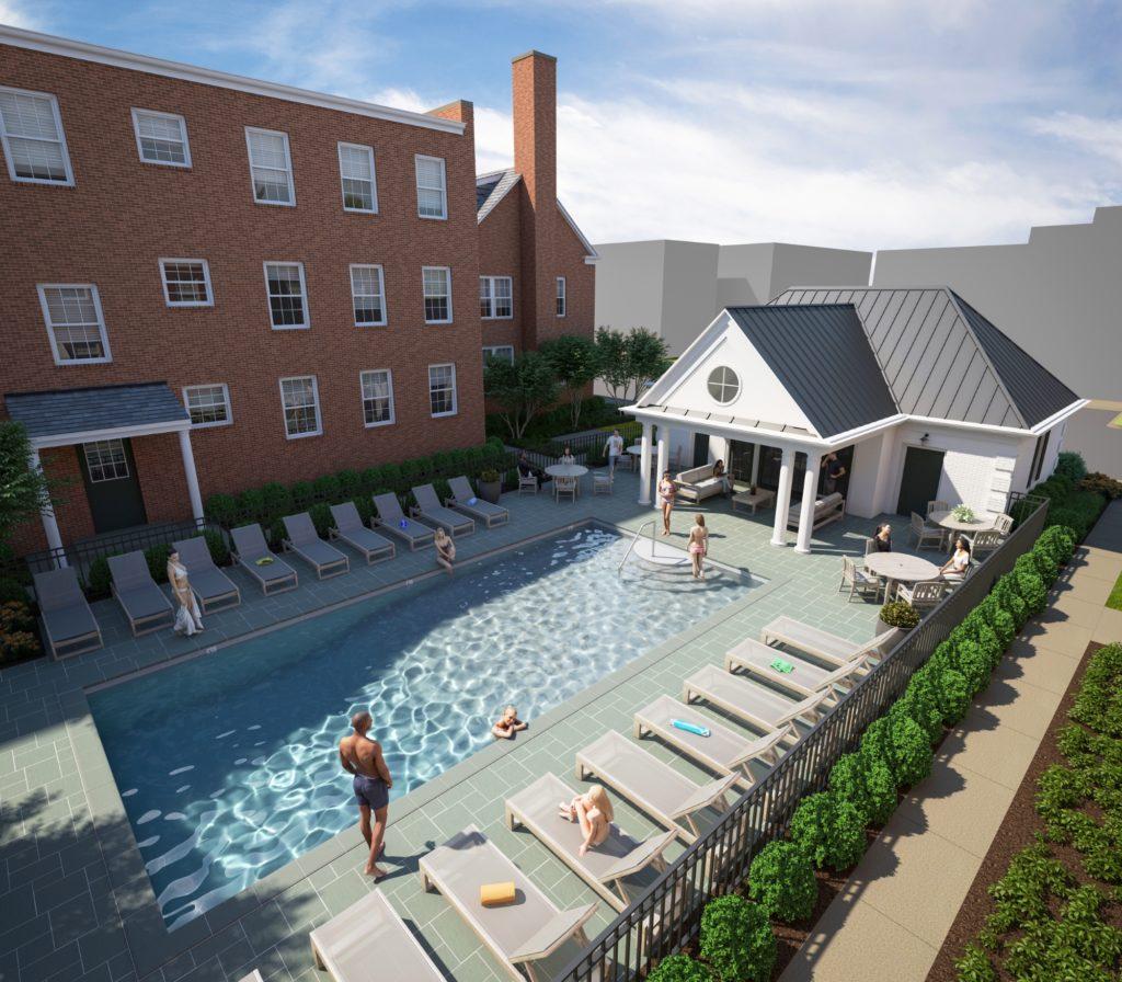 Kensington Apartments Poolhouse